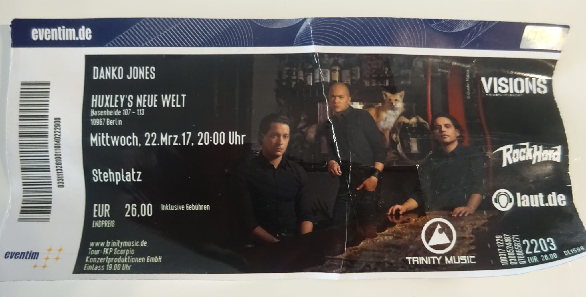 Ticket Danko Jones Huxleys