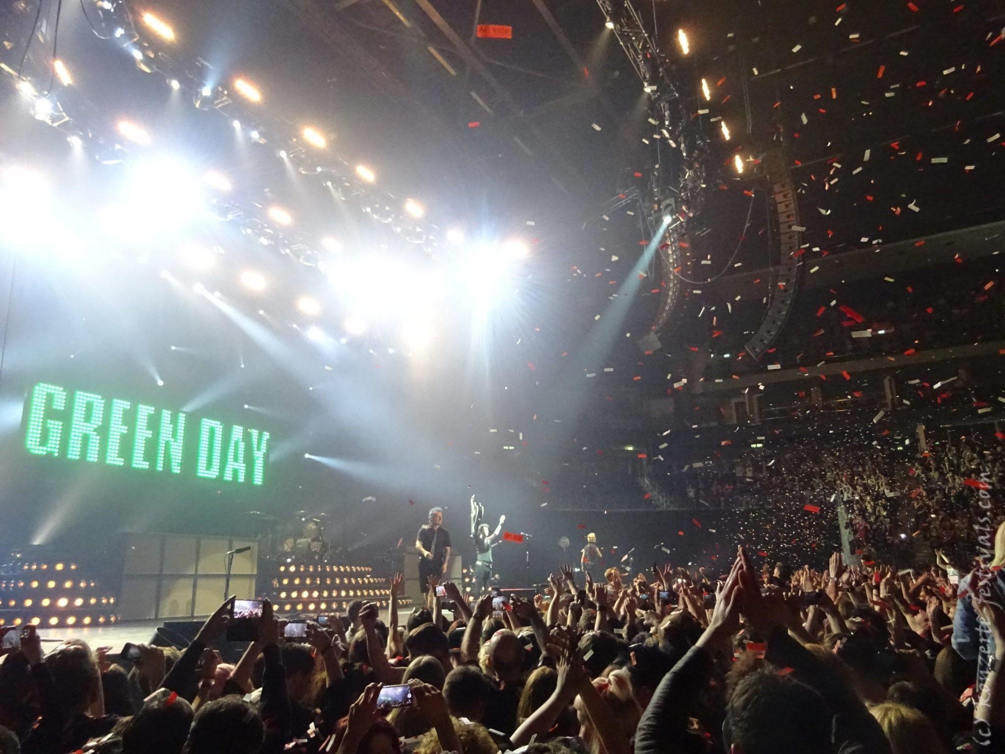 Green Day in der Mercedes Benz Arena Berlin im Januar 2017