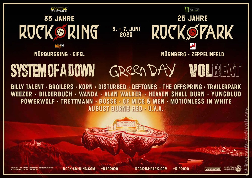 Rock am Ring 2020 Flyer