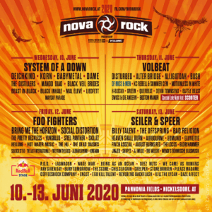 Nova Rock Line Up 2020